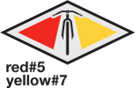 Red #5 Yellow #7 Logo